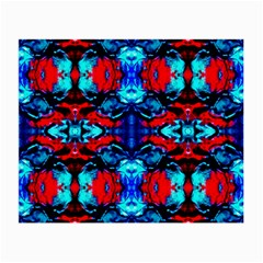 Red Black Blue Art Pattern Abstract Small Glasses Cloth by Costasonlineshop