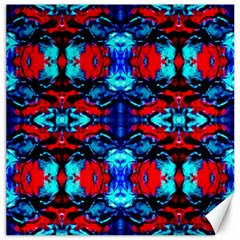 Red Black Blue Art Pattern Abstract Canvas 12  X 12   by Costasonlineshop