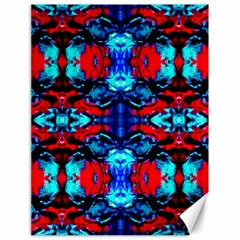 Red Black Blue Art Pattern Abstract Canvas 18  X 24   by Costasonlineshop
