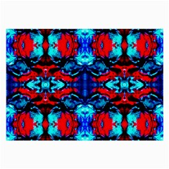 Red Black Blue Art Pattern Abstract Large Glasses Cloth by Costasonlineshop