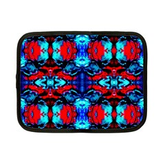 Red Black Blue Art Pattern Abstract Netbook Case (small)  by Costasonlineshop
