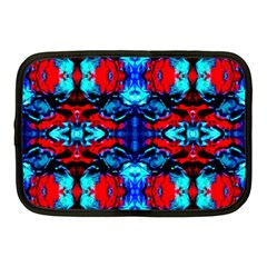 Red Black Blue Art Pattern Abstract Netbook Case (medium)  by Costasonlineshop
