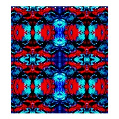 Red Black Blue Art Pattern Abstract Shower Curtain 66  X 72  (large)  by Costasonlineshop