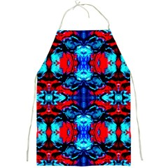 Red Black Blue Art Pattern Abstract Full Print Aprons by Costasonlineshop
