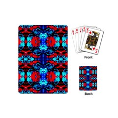 Red Black Blue Art Pattern Abstract Playing Cards (mini)  by Costasonlineshop