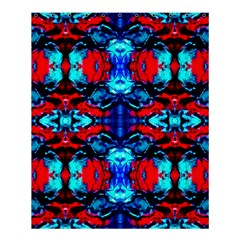 Red Black Blue Art Pattern Abstract Shower Curtain 60  X 72  (medium)  by Costasonlineshop