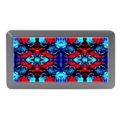 Red Black Blue Art Pattern Abstract Memory Card Reader (mini) by Costasonlineshop