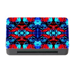 Red Black Blue Art Pattern Abstract Memory Card Reader With Cf by Costasonlineshop