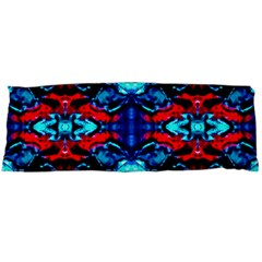Red Black Blue Art Pattern Abstract Body Pillow Cases (dakimakura)  by Costasonlineshop