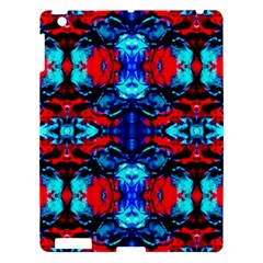 Red Black Blue Art Pattern Abstract Apple Ipad 3/4 Hardshell Case by Costasonlineshop
