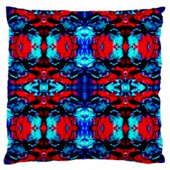 Red Black Blue Art Pattern Abstract Large Flano Cushion Cases (two Sides)  by Costasonlineshop