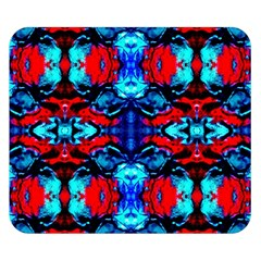 Red Black Blue Art Pattern Abstract Double Sided Flano Blanket (small)  by Costasonlineshop