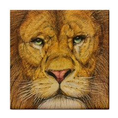 Regal Lion Drawing Tile Coasters by KentChua