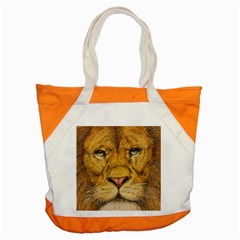 Regal Lion Drawing Accent Tote Bag  by KentChua