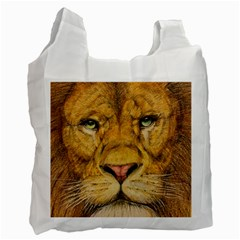 Regal Lion Drawing Recycle Bag (two Side)