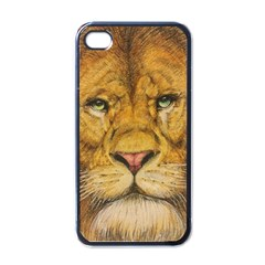 Regal Lion Drawing Apple Iphone 4 Case (black)