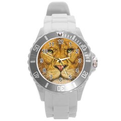 Regal Lion Drawing Round Plastic Sport Watch (l)