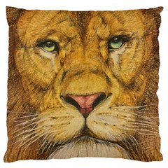 Regal Lion Drawing Large Cushion Cases (two Sides)  by KentChua