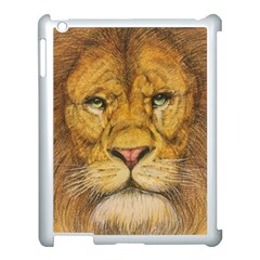 Regal Lion Drawing Apple Ipad 3/4 Case (white) by KentChua