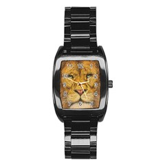 Regal Lion Drawing Stainless Steel Barrel Watch by KentChua