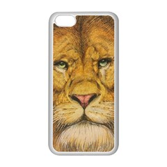 Regal Lion Drawing Apple Iphone 5c Seamless Case (white) by KentChua