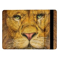 Regal Lion Drawing Samsung Galaxy Tab Pro 12 2  Flip Case by KentChua