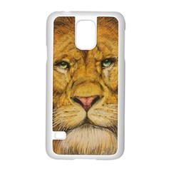 Regal Lion Drawing Samsung Galaxy S5 Case (white)