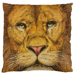 Regal Lion Drawing Standard Flano Cushion Cases (one Side)  by KentChua