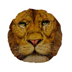 Regal Lion Drawing Standard 15  Premium Flano Round Cushions