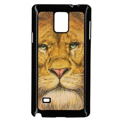 Regal Lion Drawing Samsung Galaxy Note 4 Case (black) by KentChua