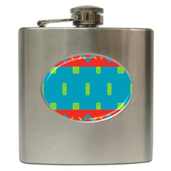 Chevrons And Rectangles 			hip Flask (6 Oz) by LalyLauraFLM