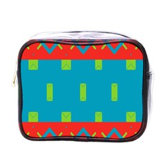 Chevrons And Rectangles 			mini Toiletries Bag (one Side) by LalyLauraFLM
