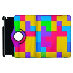 Colorful Tetris Shapes 			apple Ipad 3/4 Flip 360 Case by LalyLauraFLM