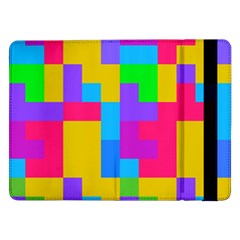 Colorful Tetris Shapes 			samsung Galaxy Tab Pro 12 2  Flip Case by LalyLauraFLM
