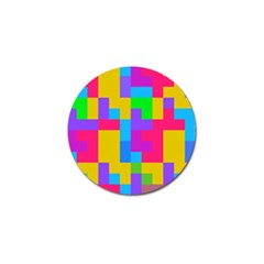 Colorful Tetris Shapes 			golf Ball Marker