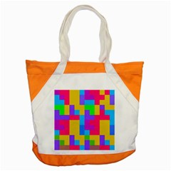 Colorful Tetris Shapes 			accent Tote Bag by LalyLauraFLM