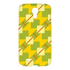 Squares And Stripes 			samsung Galaxy S4 I9500/i9505 Hardshell Case by LalyLauraFLM