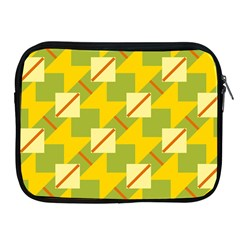 Squares And Stripes 			apple Ipad 2/3/4 Zipper Case by LalyLauraFLM
