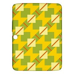 Squares And Stripes 			samsung Galaxy Tab 3 (10 1 ) P5200 Hardshell Case by LalyLauraFLM