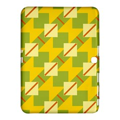 Squares And Stripes 			samsung Galaxy Tab 4 (10 1 ) Hardshell Case by LalyLauraFLM