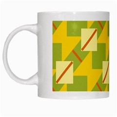 Squares And Stripes White Mug by LalyLauraFLM