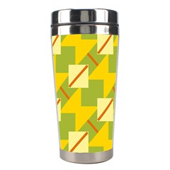 Squares And Stripes Stainless Steel Travel Tumbler by LalyLauraFLM