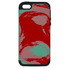 Red Pink Green Texture 			apple Iphone 5 Hardshell Case (pc+silicone) by LalyLauraFLM