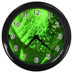 Green And Powerful Wall Clocks (black) by timelessartoncanvas