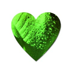 Green And Powerful Heart Magnet by timelessartoncanvas