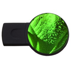 Green And Powerful Usb Flash Drive Round (2 Gb)  by timelessartoncanvas