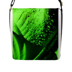 Green And Powerful Flap Messenger Bag (l)  by timelessartoncanvas