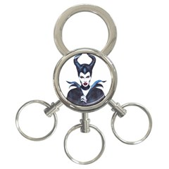 Maleficent Drawing 3 Ring Key Chains