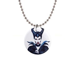 Maleficent Drawing Button Necklaces
