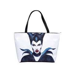 Maleficent Drawing Shoulder Handbags by KentChua